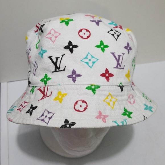 c91e1a1fa Louis Vuitton Bucket Hat White Multicolor
